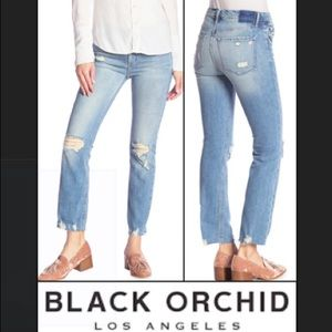 Black Orchid Bardot Straight Fray Jeans Hold Tight